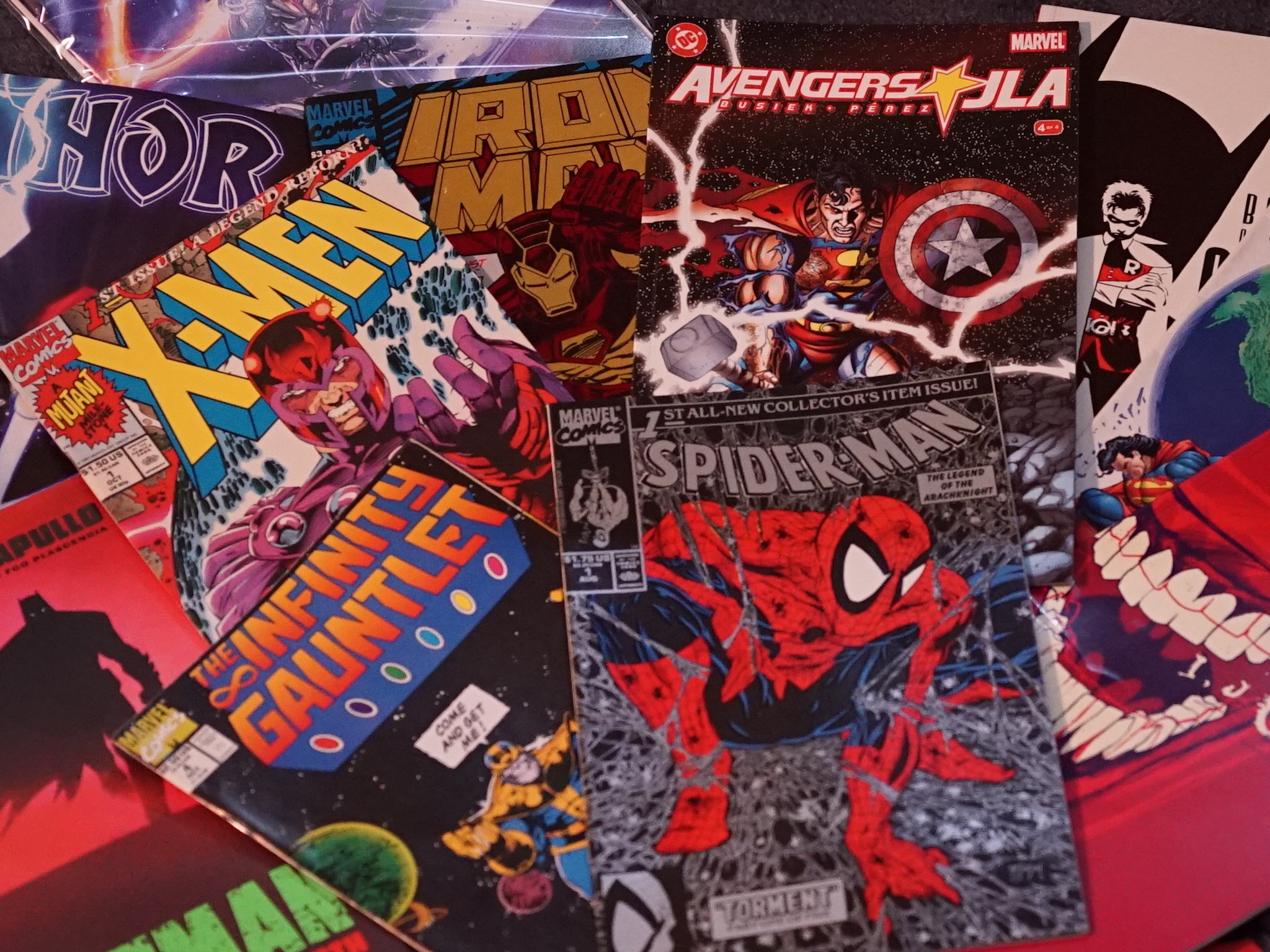 Comics, comic books, x-men, spider-man, avengers, iron-man, batman, superman
