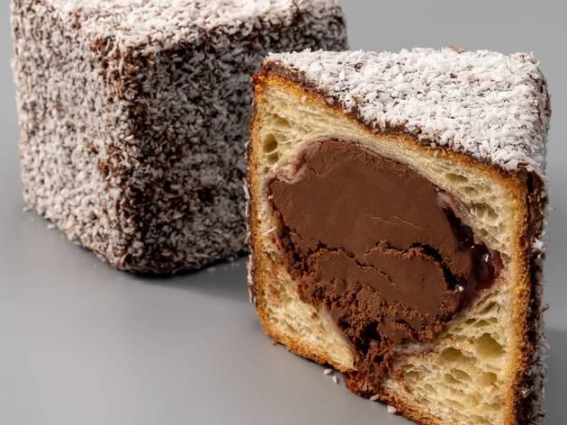 Lamington croissant from Banksia Bakehouse