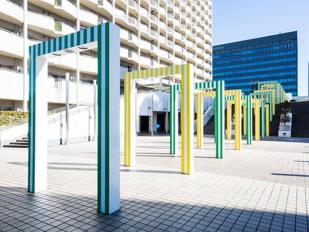 Daniel Buren '25 Porticos: The Colour and its Reflections'