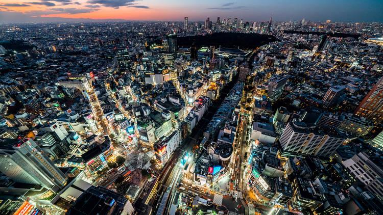 Tokyo skyline, Shibuya, Tokyo cityscape, Tokyo view