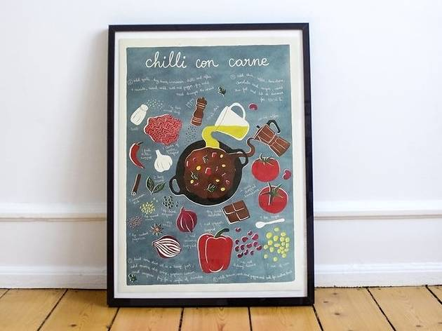 Ilustração Chili com Carne da Paulina Eats and Draws na Águas Furtadas.