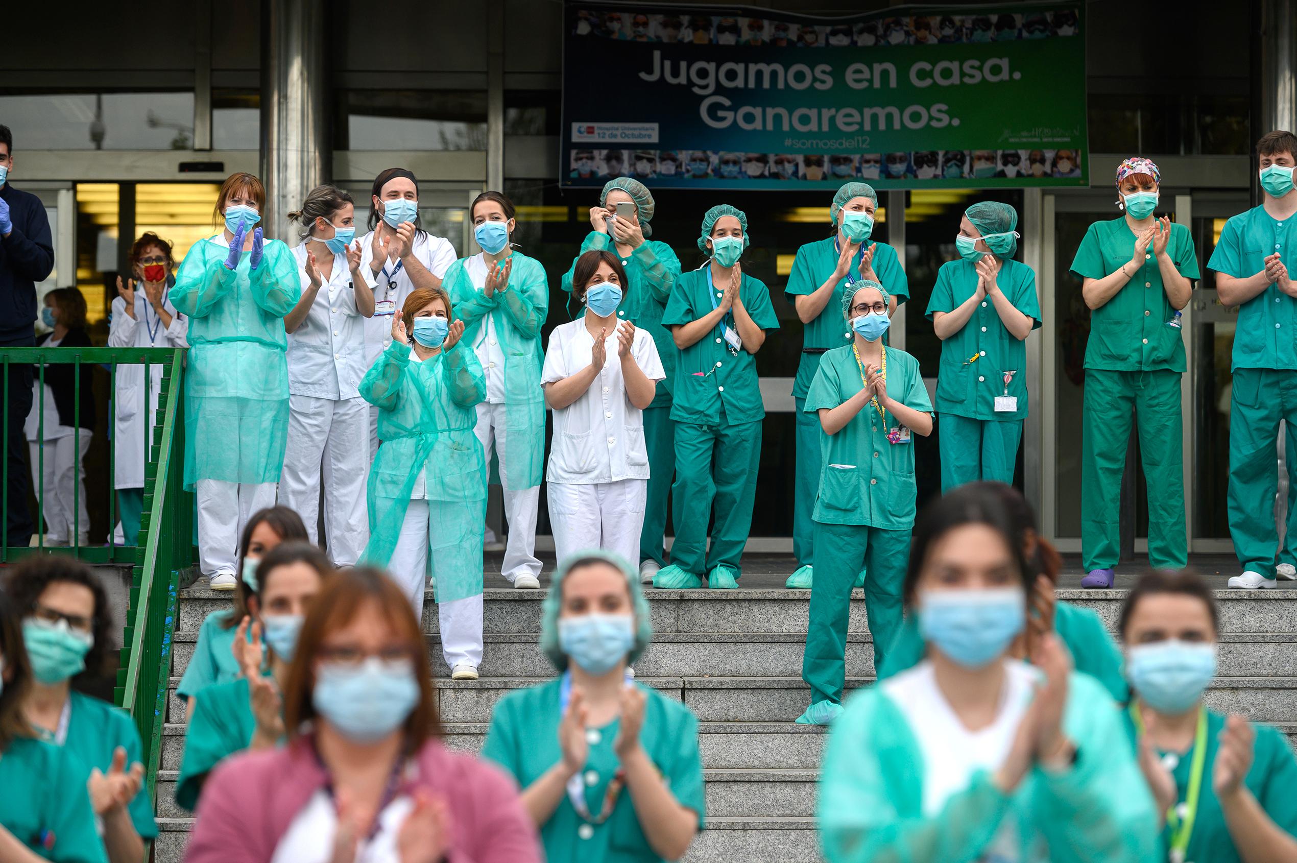 Aplauso sanitarios Madrid