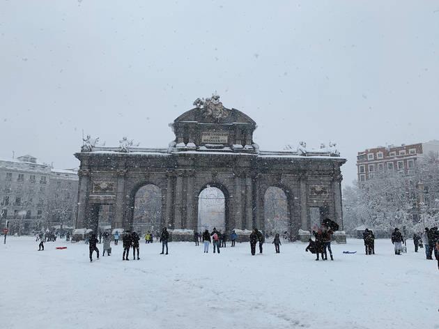 Nieve en Madrid borrasca Filomena