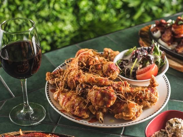 Chicken and wine