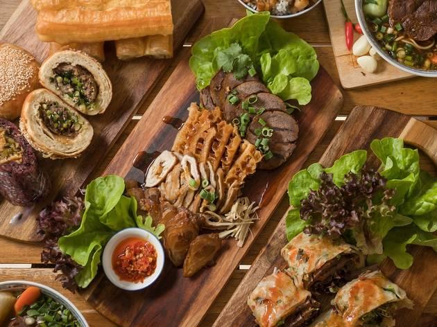 Platters of food