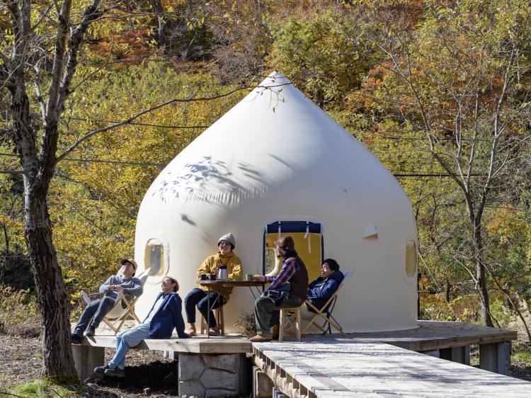 This Japanese train station has turned into a glamping ground