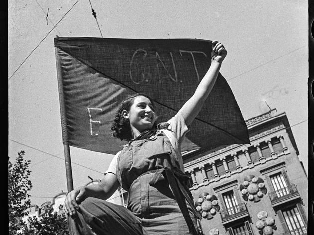 Barricada al carrer Hospital, Barcelona, 25 de juliol de 1936.