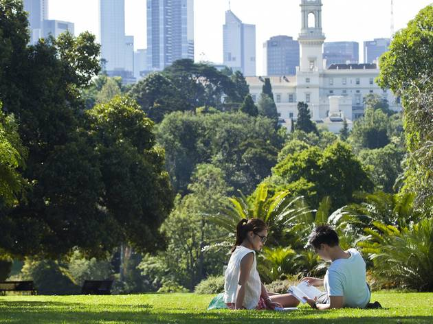 Two people in the Melbourne Royal Botanic Gardens