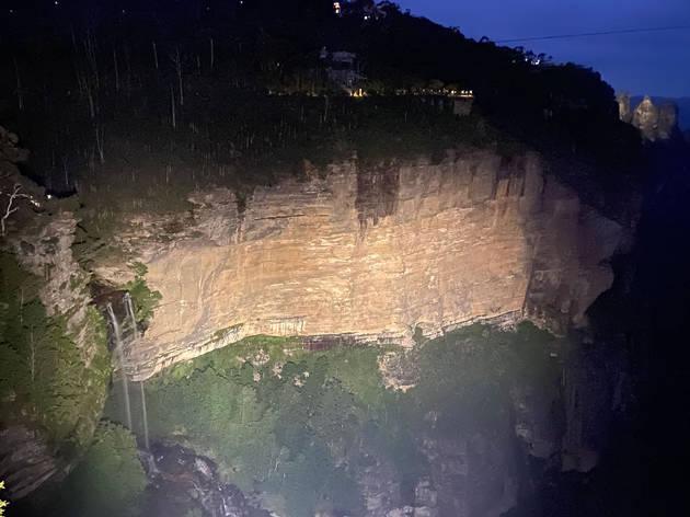 Katoomba Falls at night