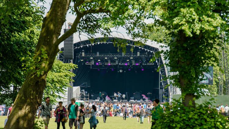 Field Day festival in Summer in Victoria Park London