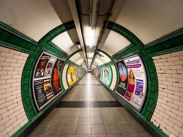 Empty underground photography series shot during lockdown in London