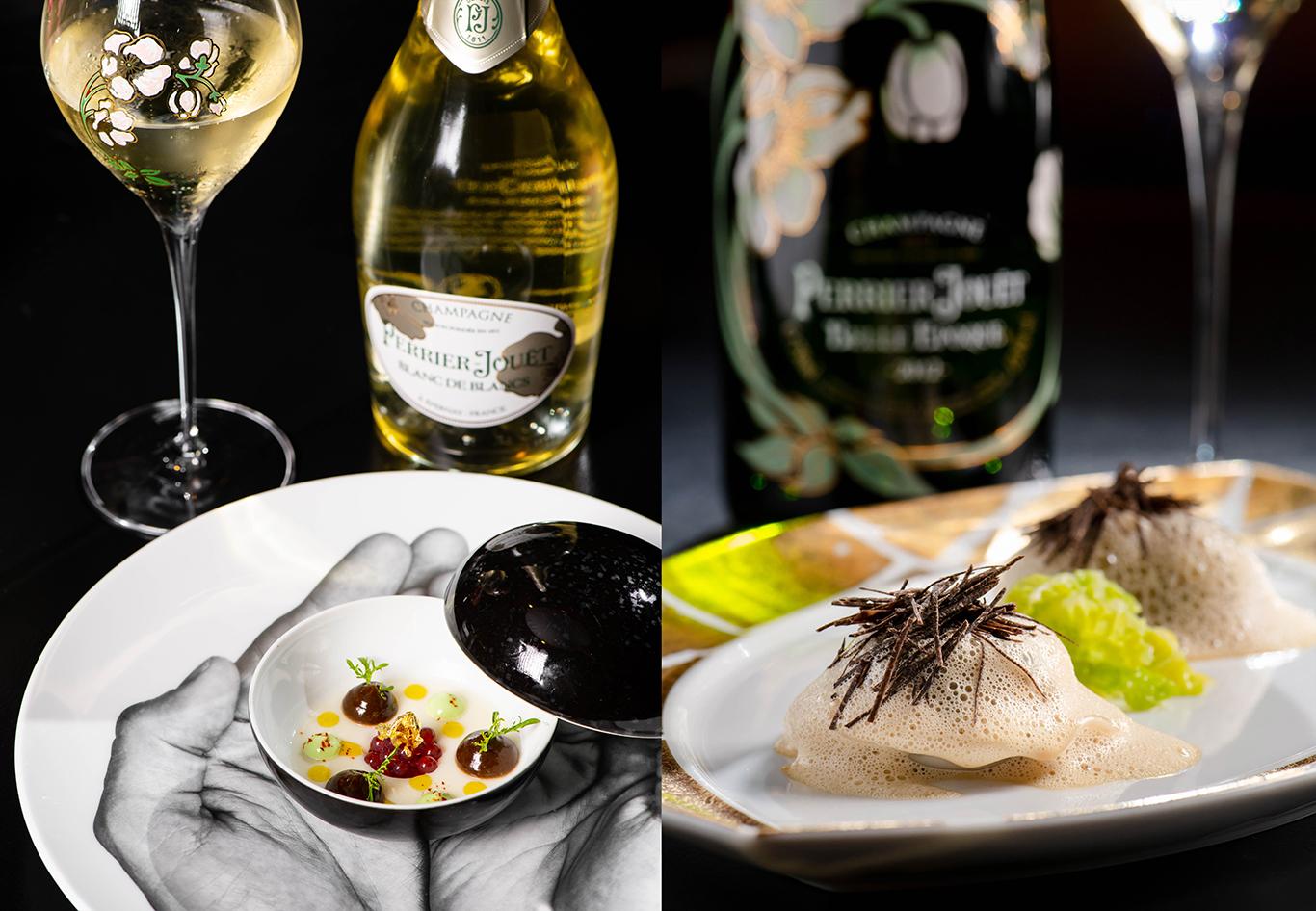Perrier Jouët Champagne pairing at L'Atelier de Joël Robuchon