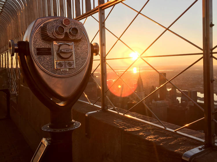Catch the sunrise from the Empire State Building