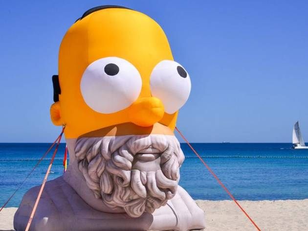 An inflatable mash-up of Homer Simpson and his philosopher namesake is coming to Barangaroo