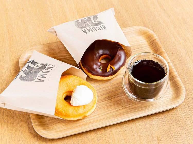Pair up coffee and fresh doughnuts