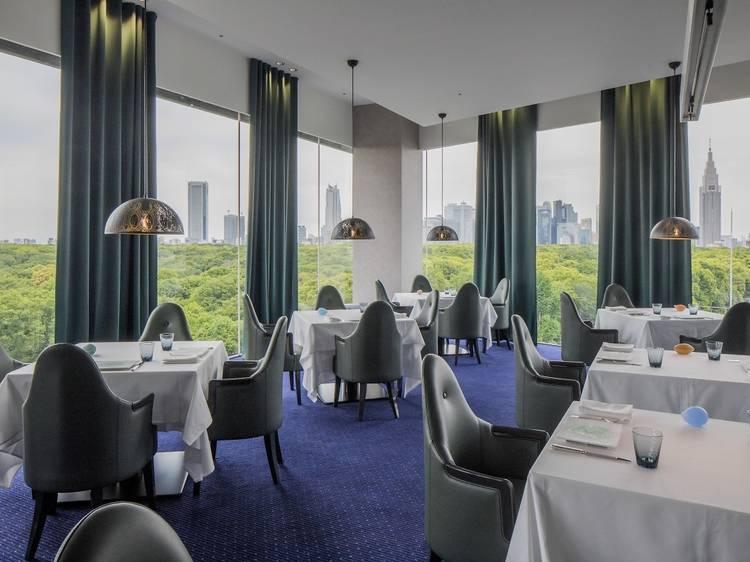 Dine with views of Yoyogi Park