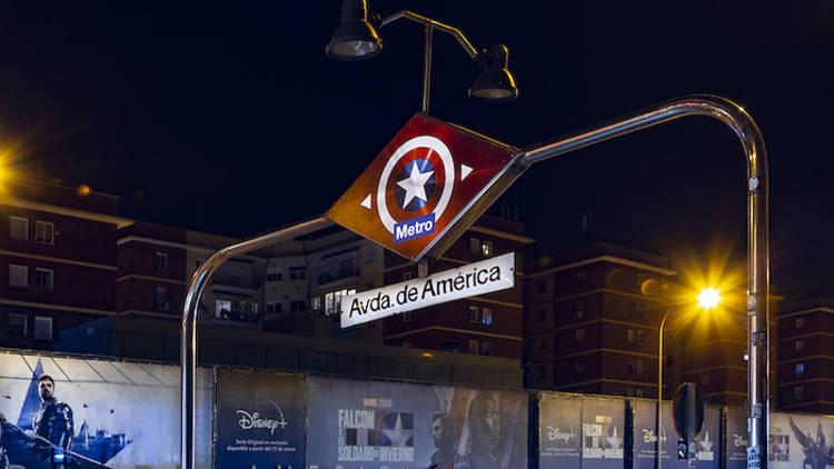 Estación Avenida del Capitán América