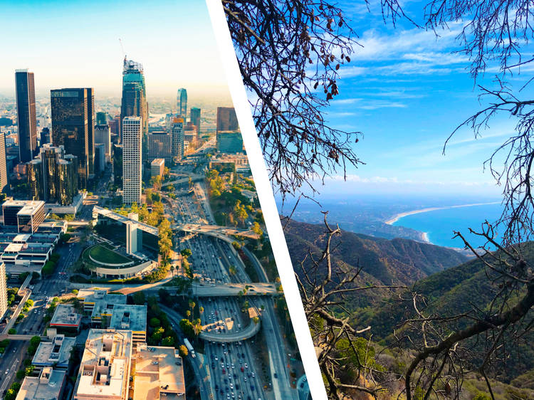 Los Angeles... and Santa Monica Mountains