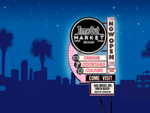 Time Out Market - Now Open Neon Sign