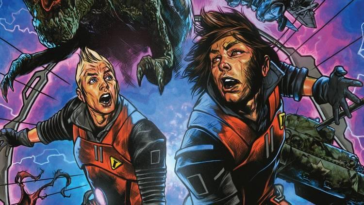 Ilustración del comic Chrononauts