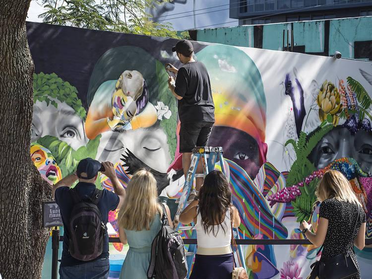 Ogle street art at the Wynwood Walls