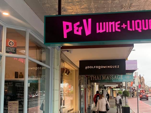 Sign saying P&V