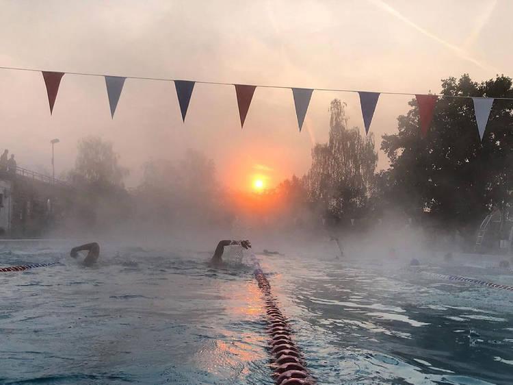 Book an outdoor swim