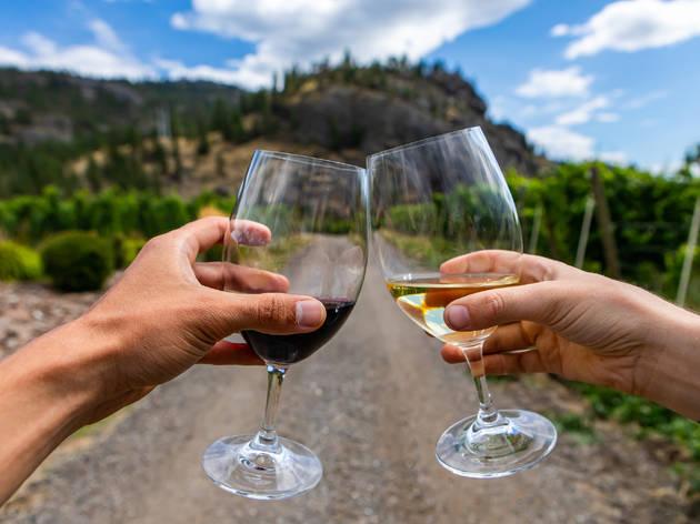 Hiking with wine
