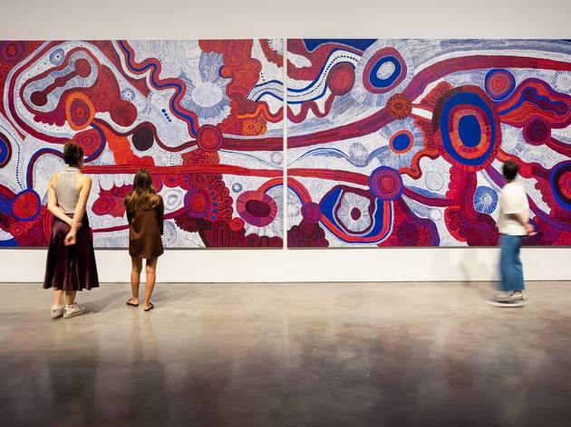 MCA-goers take in the swirling beauty of BettyKuntiwaPumani's Antara