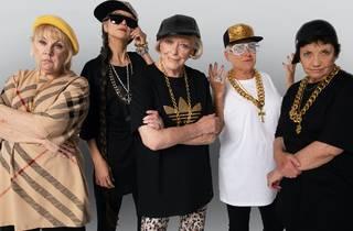 Senior women in hip-hop gear