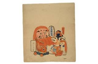 疱瘡袋(軽焼せんべい袋)のうち (吉德資料室 蔵)