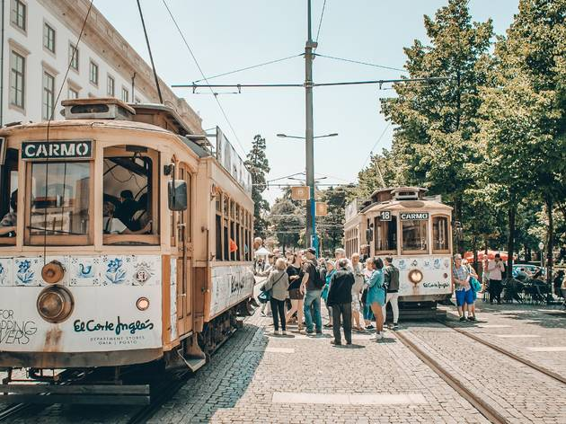 Eléctricos no Porto