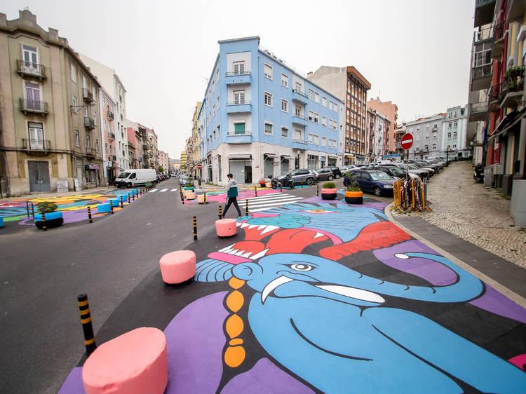As novas obras de arte urbana em Lisboa