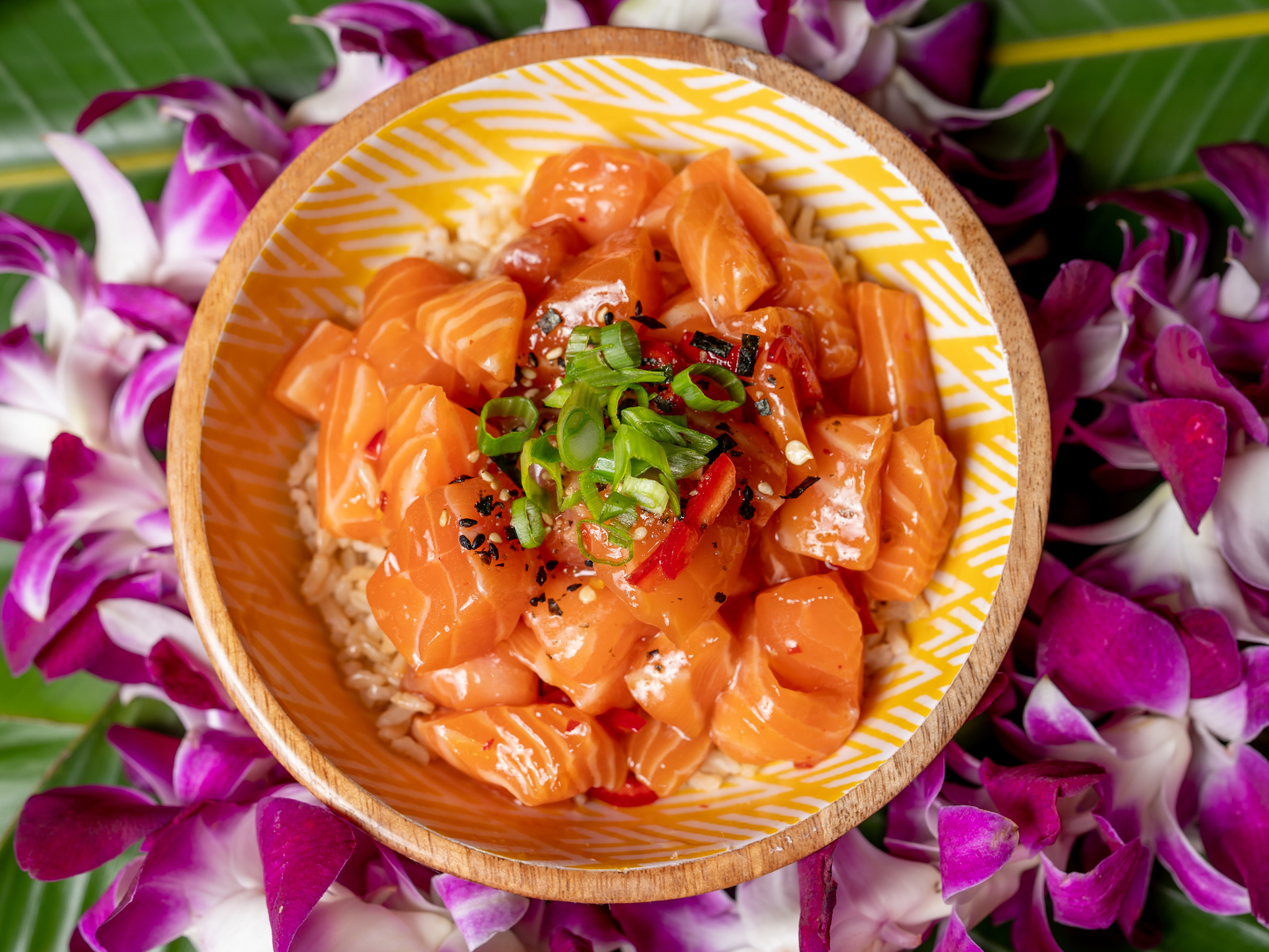 Say aloha to the sweet and spicy salmon poke at Time Out Market Miami