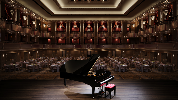 Rendering of the Grand Ballroom at the Waldorf Astoria New York