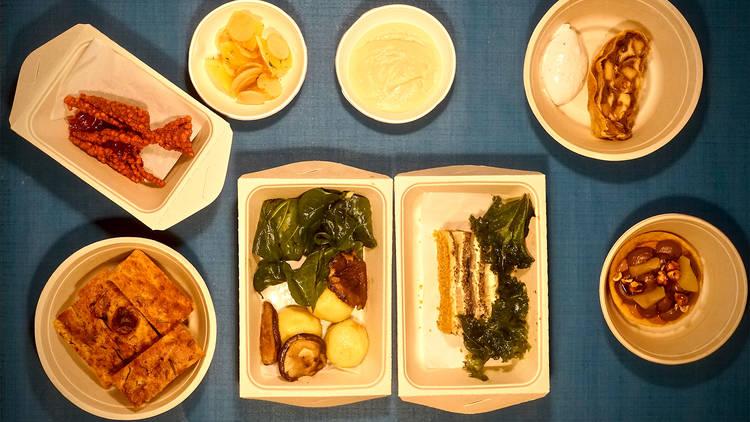 Restaurante, Vegetariano, Menu Take Away, Arkhe