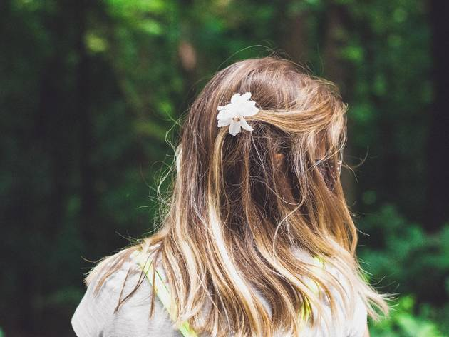 Spring, flower, hair, girl