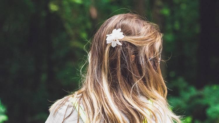 Spring, flower, hair, girl