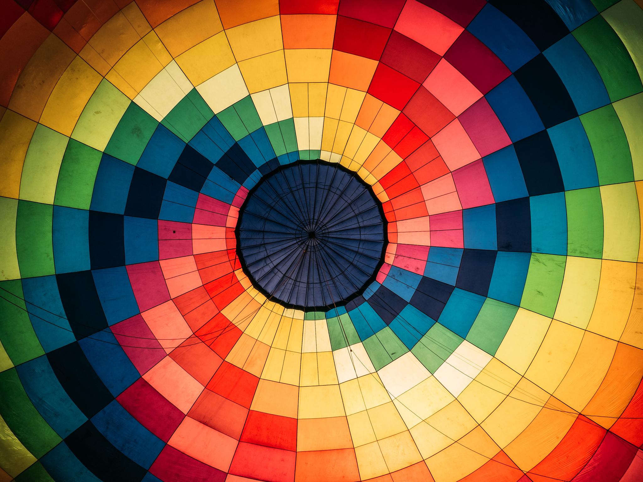 Imagen interior de un globo aerostático