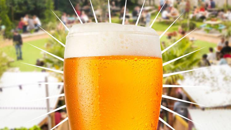 Beer gardens london