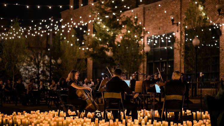 concertos à luz das velas