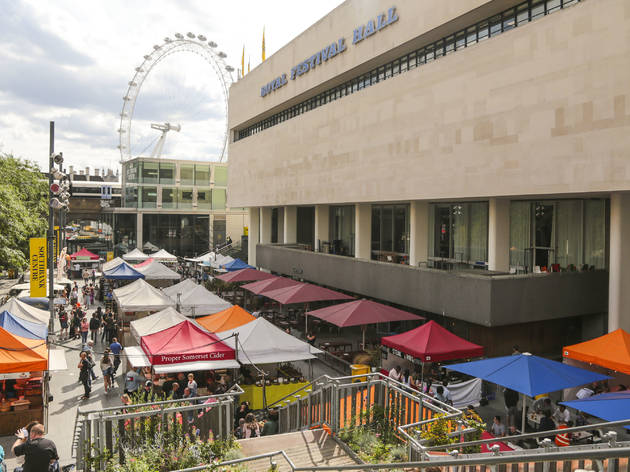 Southbank Centre's riverside food market is reopening this month