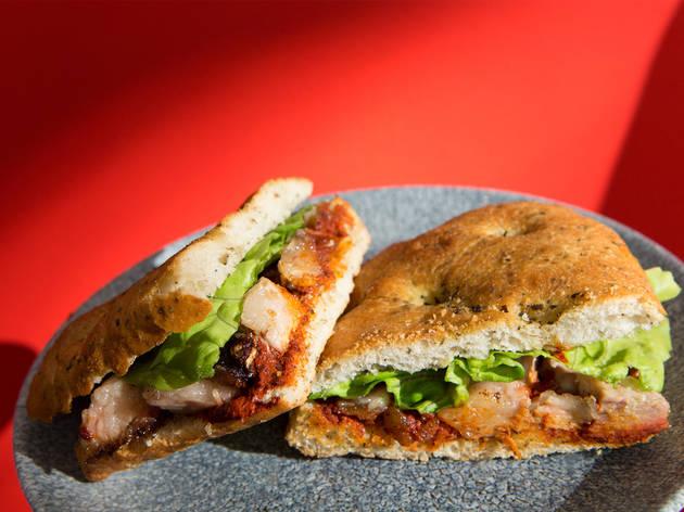 Pork jowl sandwich from Sants Es Crema in Barcelona