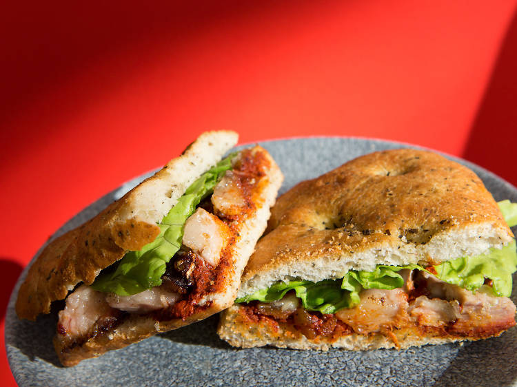 Pork jowl sandwich from Sants Es Crema   Barcelona