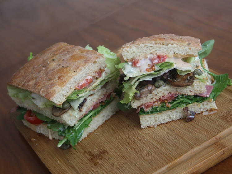 Blue panini from Bubada Club Sandwiches and More   Istanbul