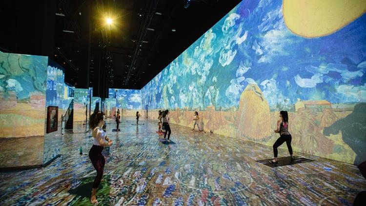Immersive Van Gogh yoga