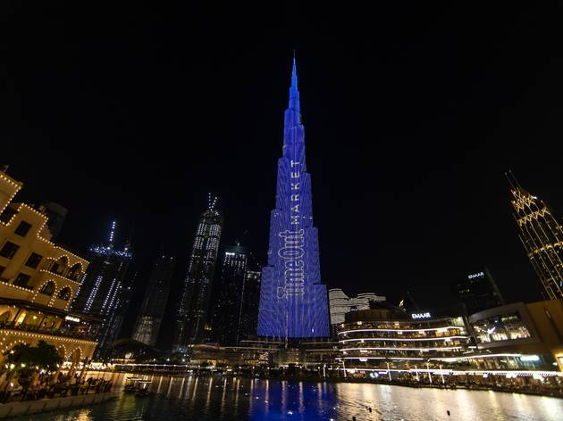 Time Out lights up Dubai's Burj Khalifa