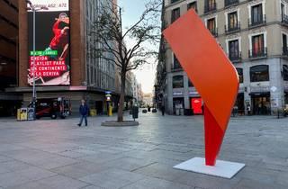 Escultura en Plaza Callao