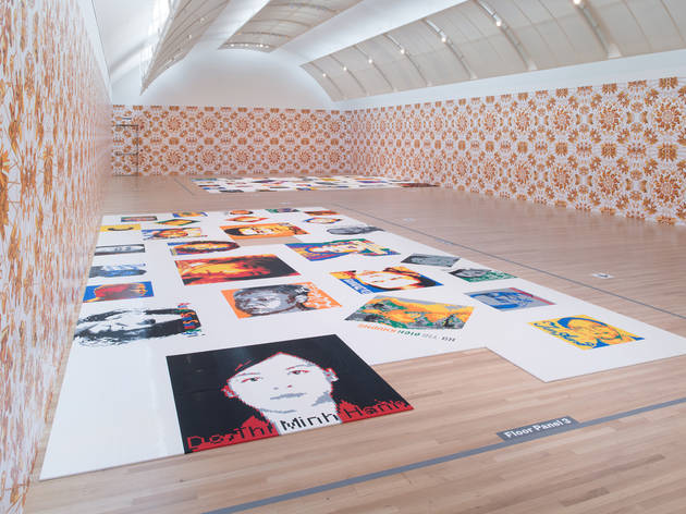 Installation view of Ai Weiwei: Trace at Skirball Cultural Center.