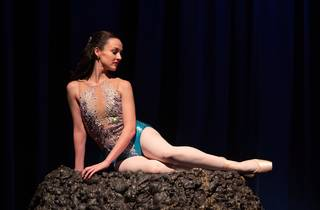 A ballet dancer dressed as Aeril from The Little Mermaid